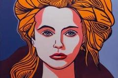 "Work-14-_G""Goddess of fire 3""oddess-of-fire-3_-Golden-Acrylic-on-birch-plywood-120-cm-x-120-cm-framed-2"